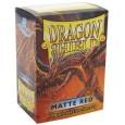 Protektory MATOWE Czerwone (Dragon Shield, 100 sztuk)